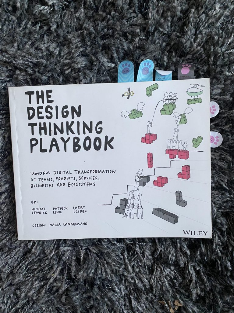 Image of the front of the Design Thinking Playbook book